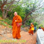 Monks at Phra Nakhorn Khiri Historic Park