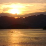 Sunset over the lake - photo by Jungleman Khao Sok
