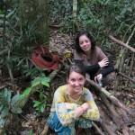 Meghan & Lilia posing by the Rafflesia!